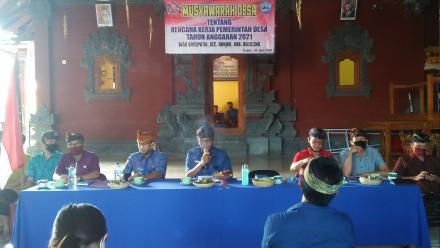 Musyawarah Desa Tentang Rencana Kerja Pemerintah Desa Tahun 2021